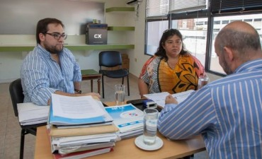 NANCY MIRANDA Y SERGIO DUARTE EN REUNION DE TRABAJO CON EL MINISTRO DE SALUD PROVINCIAL