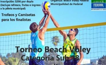 SE VIENE TORNEO DE BEACH VOLEY SUB 18 MASCULINO