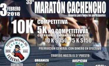 """SE ACERCA LA 33º MARATÓN """"CACHENCHO"""" SE CORRERÁ EL 3 DE FEBRERO"""
