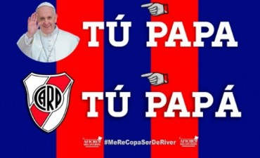 Afiches recopados: los hinchas de River se rieron de San Lorenzo e incluyeron a Boca en la 'volteada'