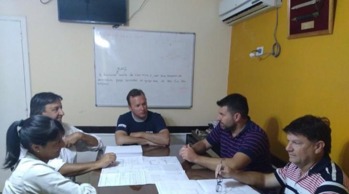 EL INTENDENTE RECIBIÓ A INSPECTORES DE HIDRÁULICA DE LA PROVINCIA