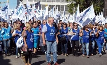 Marcha de Upcn: Allende amenaza a Bordet con ponerle una carpa