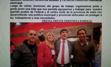 El Frente Peronista Federal oficializó a sus candidatos