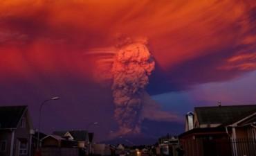 Gigantesca erupción en el sur de Chile