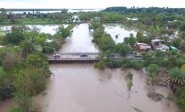 Más de 500 mm de lluvias provocaron cortes en calles y caminos del norte entrerriano