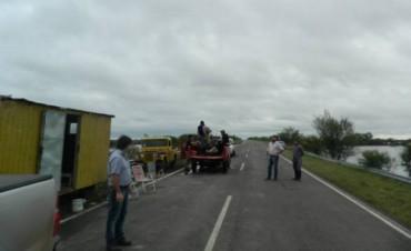 El Intendente recorrió la zona de la ruta pcial Nº 22