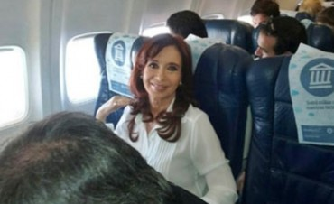 Cristina ya partió y vuela rumbo a Buenos Aires