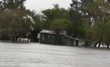 Pequeño poblado en Ibicuy quedó desolado tras ser tapado por las aguas