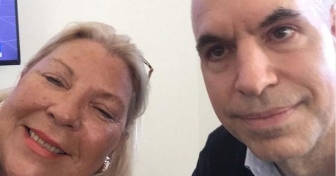 Rodríguez Larreta y Carrió se tiraron buena onda