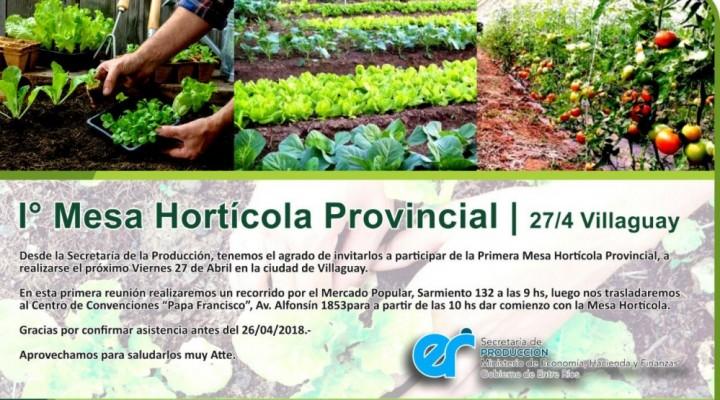 EL MUNICIPIO PARTICIPARÁ DE LA 1ª MESA HORTÍCOLA PROVINCIAL EN VILLAGUAY