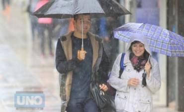 La semana comienza con lluvia y frío en la provincia