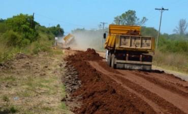 Reposición de ripio en la Ruta Provincial N 5