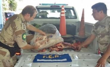 Decomisaron unos 50 kilos de carne de tres carnicerías de Sauce de Luna