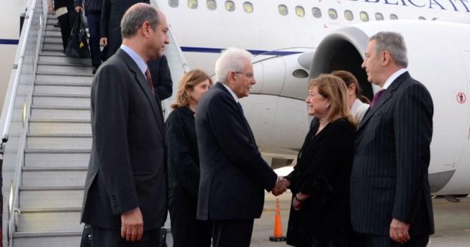 Llegó el presidente de Italia, en visita de Estado
