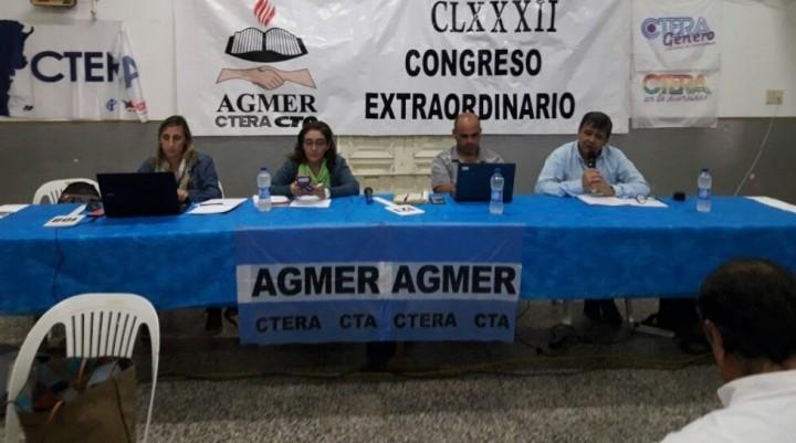 El congreso de Agmer rechazó la propuesta del Gobierno