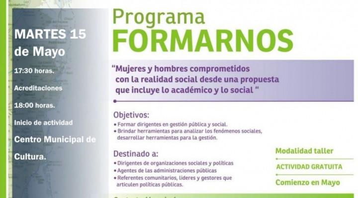 """HOY COMIENZA EL PROGRAMA """"FORMARNOS"""" EN FEDERAL"""
