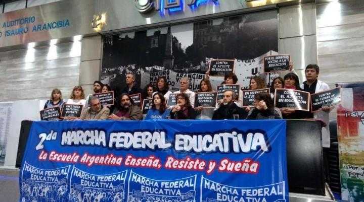 Se inició la Marcha Federal Docente