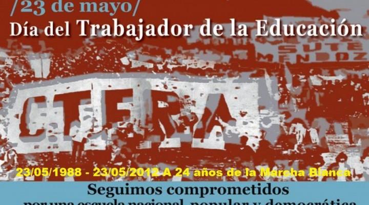 23 DE MAYO: DÍA DEL TRABAJADOR DE LA EDUCACIÓN