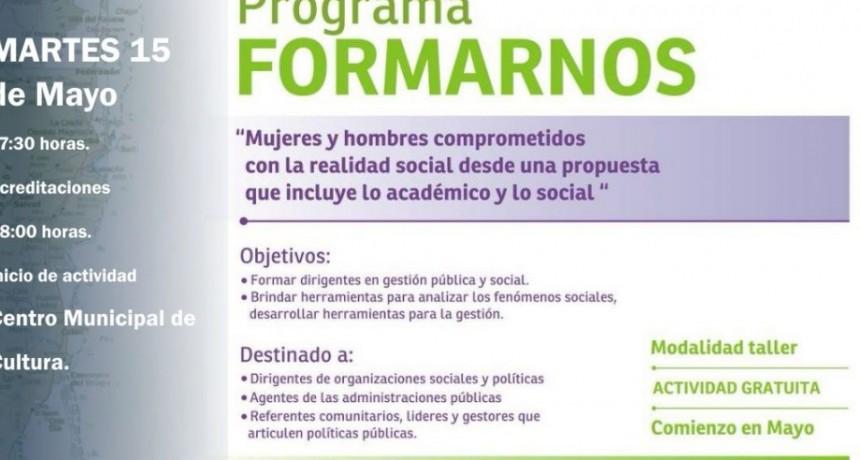 """HOY ES EL TERCER ENCUENTRO DEL PROGRAMA """"FORMARNOS"""""""