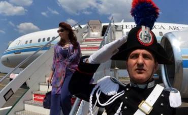 La Presidenta llegó a Roma para entrevistarse con el Papa