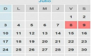 El próximo 8 de julio será feriado