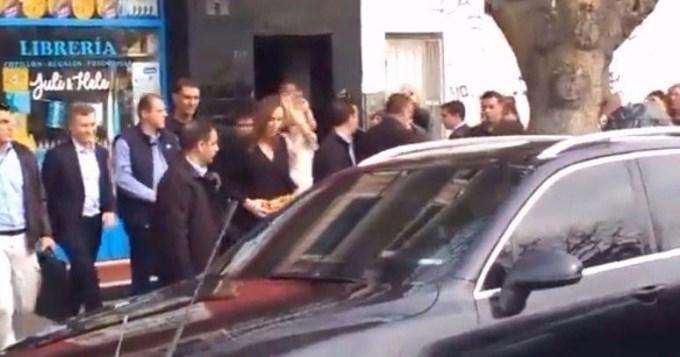 Macri y Vidal fueron abucheados por vecinos y docentes en Tigre