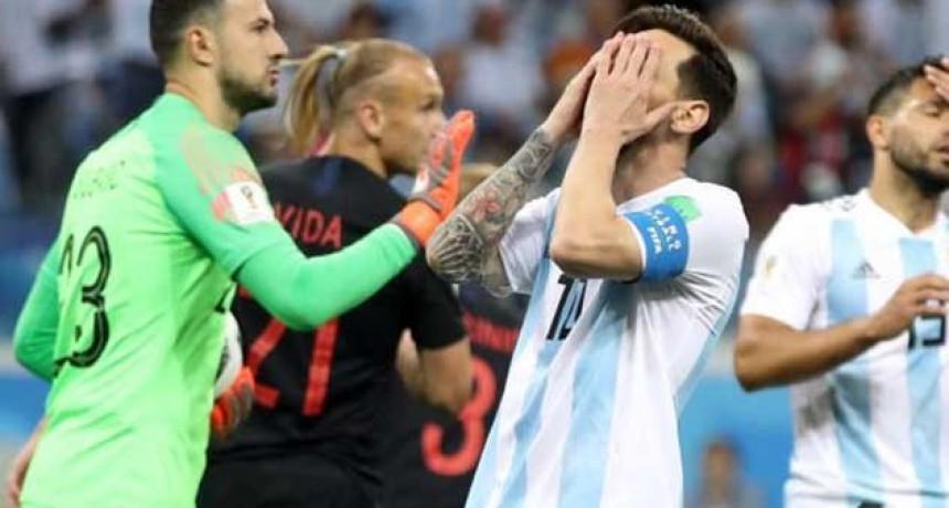 Argentina al borde de la eliminación: fue goleado por Croacia en un partido para el olvido