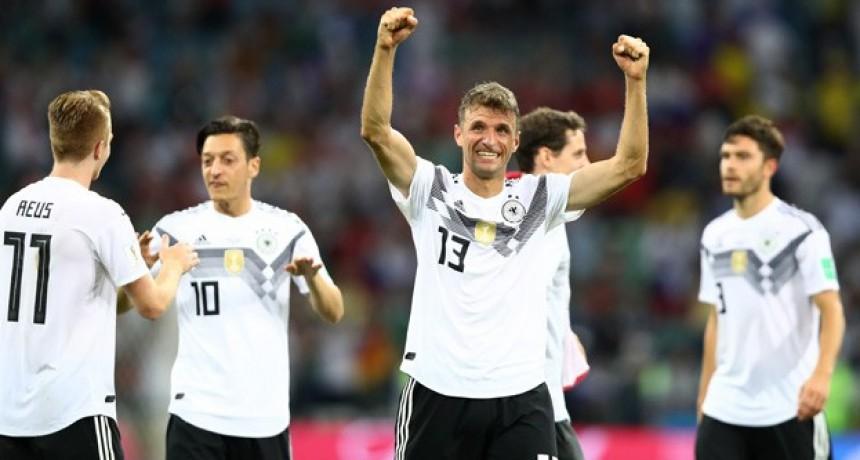 Agónico triunfo de Alemania frente a Suecia que lo acerca a la clasificación