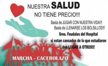 Marcha - Cacerolazo en Federal por la mala atención medica del Hospital Urquiza