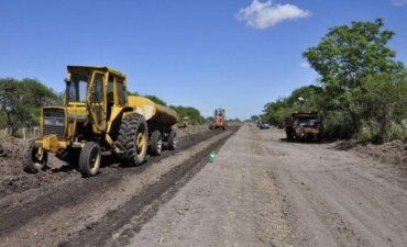 Comenzó la obra del acceso a Palo Seco desde la Ruta 32