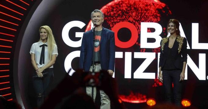 Macri participó de un festival junto a Shakira y Awada