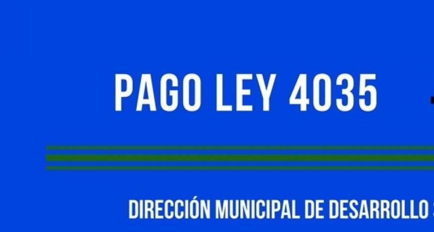 PAGOS LEY 4035