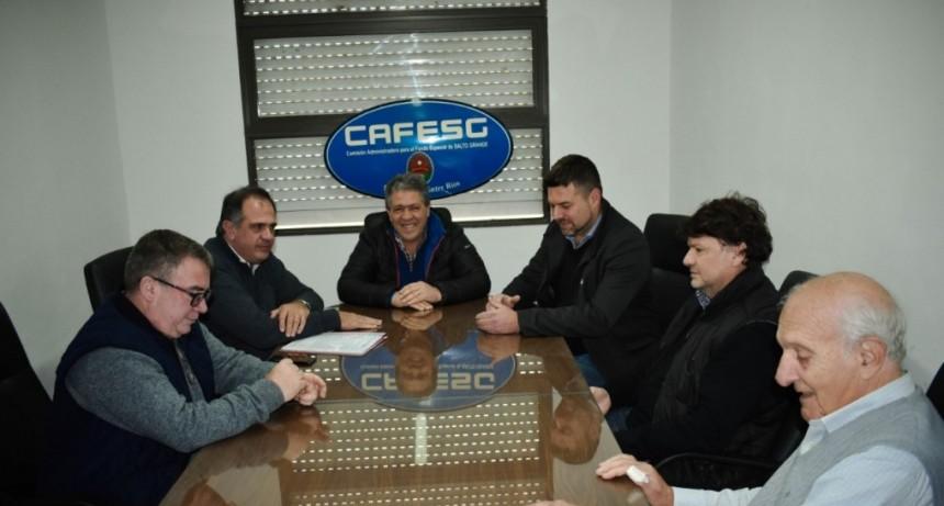 FEDERAL RECIBIÓ UN CONTRATO DE OBRA PARA CORDÓN CUNETA Y BA DENES DESDE CAFESG