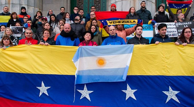 Embajada argentina blindada por crisis en Venezuela