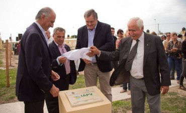 Inauguraron 27 viviendas del IAPV en Nogoyá con una inversión de 9,6 millones
