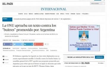 Marco legal contra los fondos buitres: Así lo contaron los medios del mundo