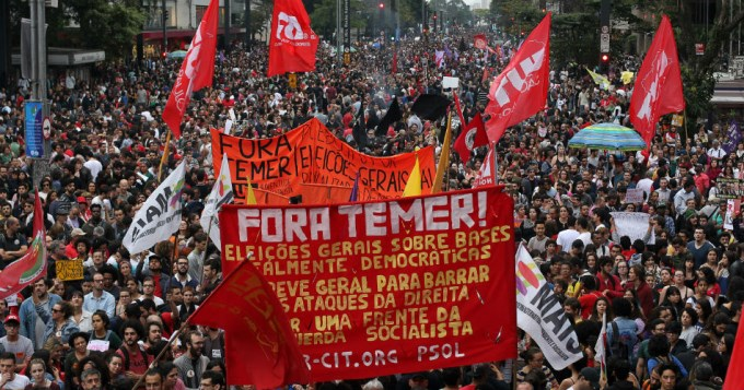Gobierno brasileño admitió marchas masivas contra Temer