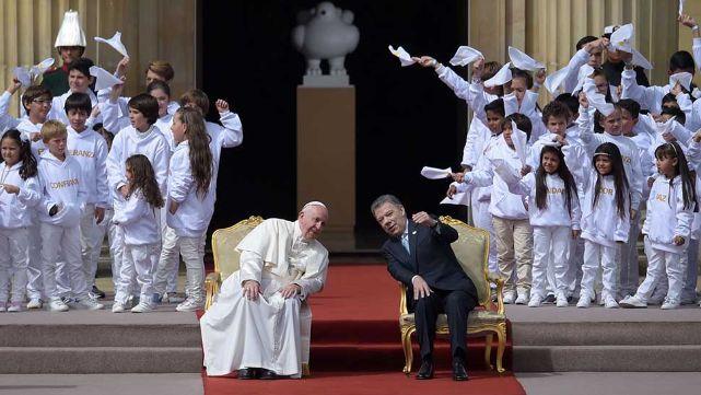 El Papa pidió a los colombianos