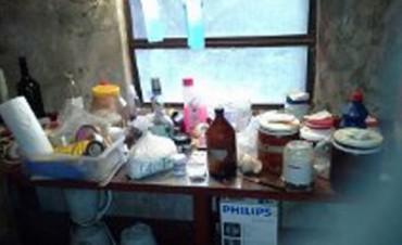 Desbarataron una cocina de cocaína en Basavilbaso y detuvieron a tres personas