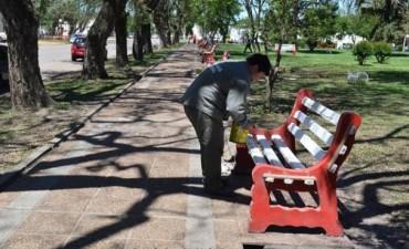 Trabajos de mantenimiento en la ciudad