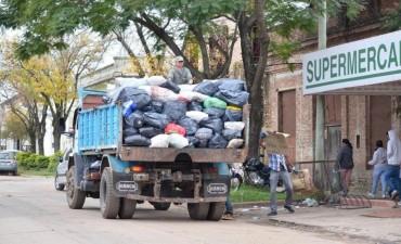 El lunes habrá servicio normal de recolección de residuos