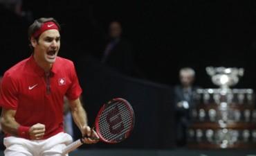 Legendario Federer: le dio a Suiza la Copa Davis y logró así el único título grande que le faltaba