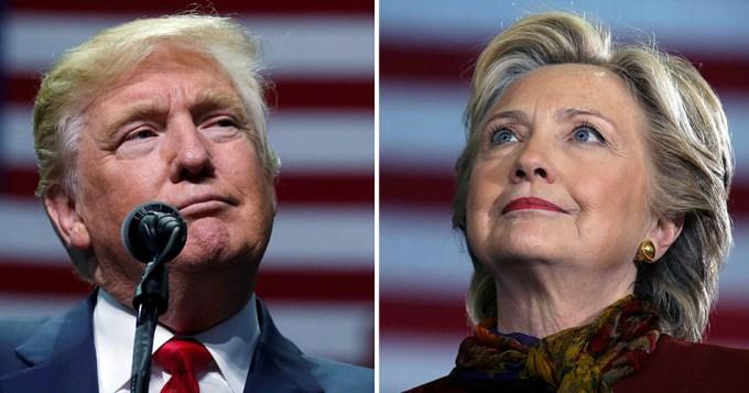 Hillary y Trump recorrieron estados como cierre de campaña