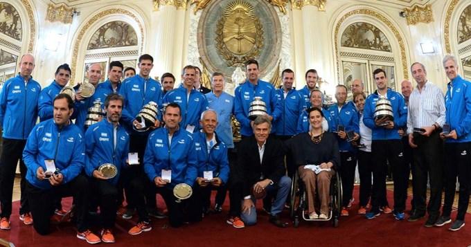 Macri recibió a nuestros campeones de Copa Davis