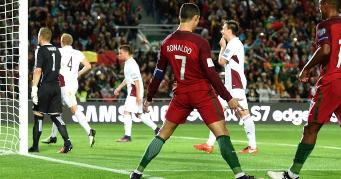 Portugal ganó con doblete de Cristiano