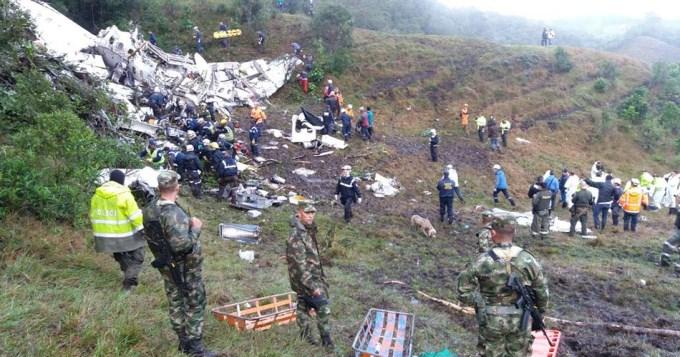 Se estrelló el avión del Chapecoense en Colombia: 75 muertos