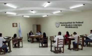 El Concejo Deliberante de Federal sesionó en extraordinaria