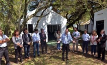 Bordet inauguró obras en la reserva natural Parque Berduc