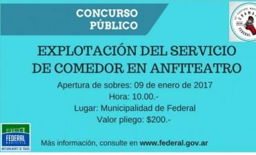 CONCURSO PUBLICO PARA BRINDAR EL SERVICIO DE COMEDOR EN EL ANFITEATRO MUNICIPAL