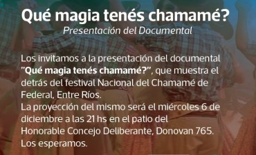 SE PRESENTA EL DOCUMENTAL ¿QUÉ MAGIA TENÉS CHAMAMÉ?